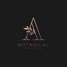 Letter A Botanical Elegant Min...