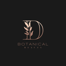 Letter D Botanical Elegant Min...