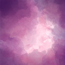 Creative Artistic Violet Background. Watercolor Purple Vector Background Of Clouds With A Gap.