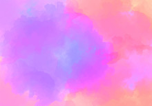 Creative Artistic Violet Pink Background. Watercolor Purple Peach Vector Background Of Clouds With A Gap.