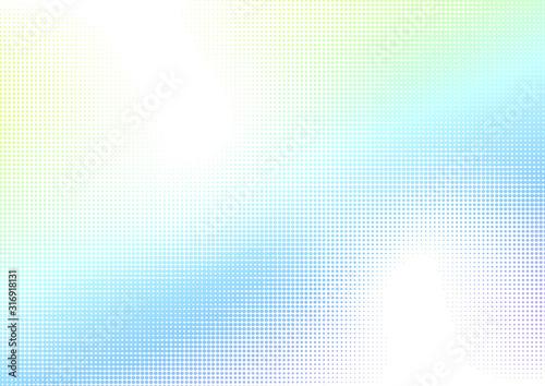 Fotografía 白いドットのハーフトーングラデーションデジタル背景