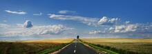 Panorama Road Against A Beauti...