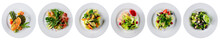 Set Of Fresh Salads Isolated O...