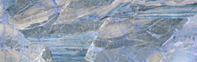 Blue Abstract Marble Stone Background, Colorful Rock Texture