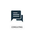 Consulting icon. Simple element illustration. Consulting concept symbol design. Can be used for web and mobile.