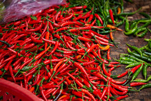 Chili Pepper At Asian Market