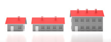 Houses Miniature Isolated Agai...