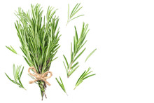 Rosemary Leaves Isolated On Wh...
