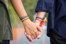 Hand Of LGBT Women Holding Tog...