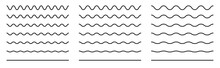 Wiggly Squiggle Lines. Wiggle Waves Set. Wavy Vector Line. Black Curvy Underlines. Smooth End Squiggly Horizontal Curvy Squiggles