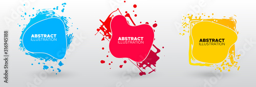 Fotografía Set of modern abstract vector banners