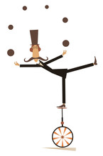 Equilibrist Mustache Man On Th...