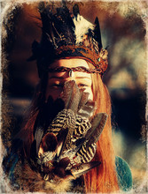 Shaman Woman And Shamanic Feat...