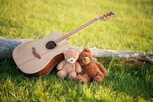 Two Teddy Bears In Love In The...