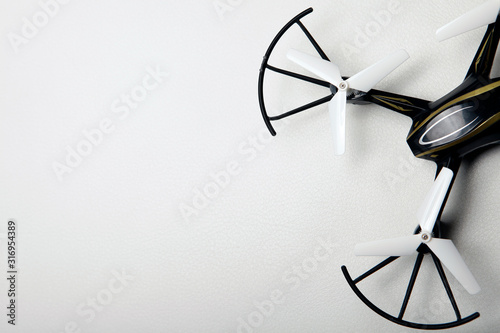 quadcopter natural white leather background Canvas Print