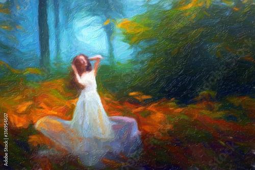 Photo Impressionnisme. La dame blanche