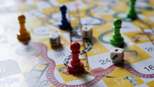 Close-up Of Snakes And Ladders...