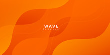 Abstract Colorful Orange Curve Background