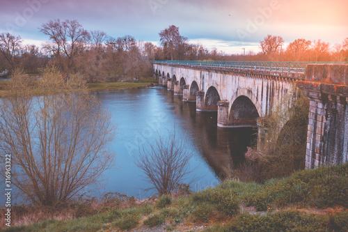Digoin canal bridge Canvas Print