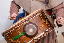 Large Medieval Drum Player