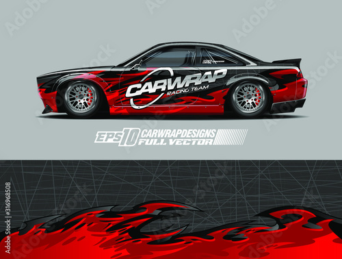 Leinwand Poster Car wrap decal graphic design