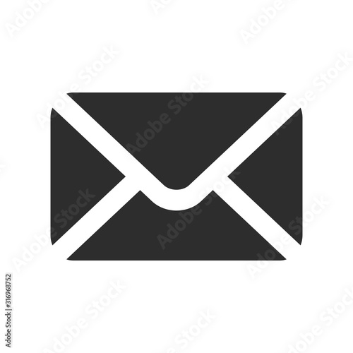 mail icon on white background, vector symbol Fototapeta