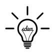 Leinwanddruck Bild - Lightbulb idea symbol icon