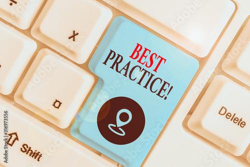 Writing note showing Best Practice Fotobehang