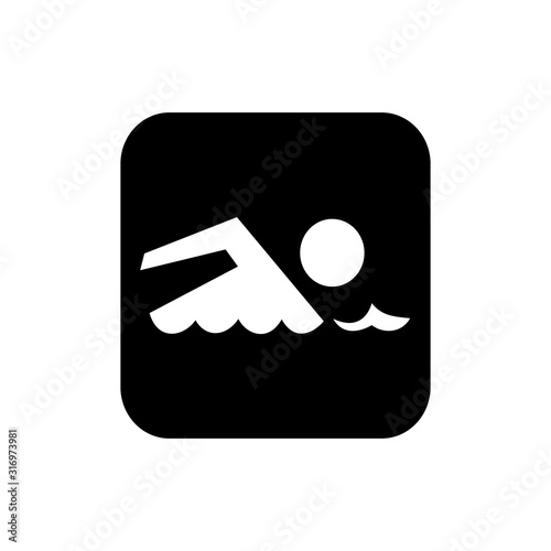 Sign of swimming. vector Canvas Print