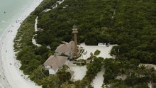Sanibel Island Lighthouse Historic Building On The Beach