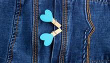 Small Wooden Heart Clothespins...