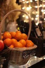 Fresh Oranges In A Basket