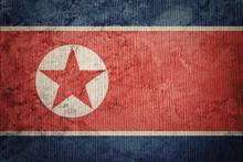 Grunge North Korea Flag. North...