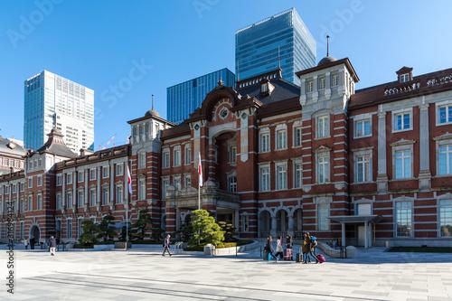 (東京都ー都市風景)東京駅前広場の風景8 Wallpaper Mural