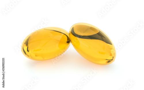 Two capsules with oil Obraz na płótnie