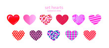 Hearts Vector Set Illusrations...