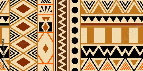 Creative ethnic style vector seamless pattern Wallpaper Mural