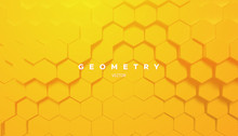Abstract Yellow Geometric Back...