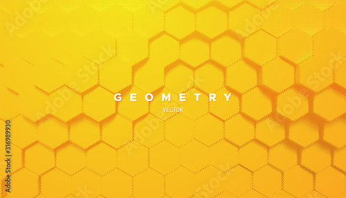 Carta da parati Abstract yellow geometric background