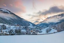 Winter View Of The Alpine Vill...