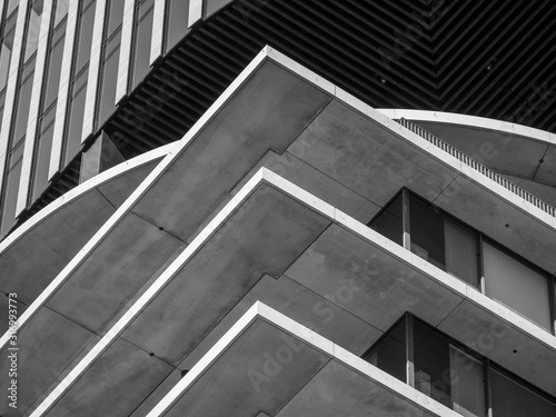 Abstract background architecture lines. modern architecture detail #316993773