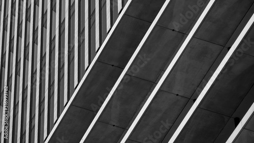 Canvastavla Abstract background architecture lines