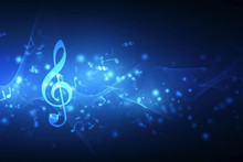 Abstract Colorful Music Backgr...