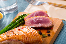 Grilled Duck Breast With Baked...