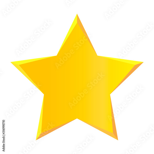 Cuadros en Lienzo Star icon vector isolated on white background