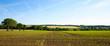 Leinwandbild Motiv Panorama dans les champs, campagne Française, France.