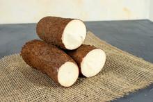 Pieces Of Cassava. One Of The Most Important Brazilian Food. (mandioca, Yuca, Mandioca, Araruta Brasileira)