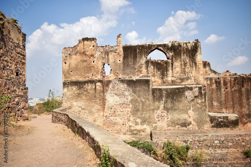 Платно Old Ancient Golconda Fort in India