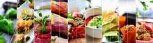 Collage Of Diverse Food. Vario...