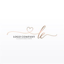 Initial LE Beauty Monogram And...